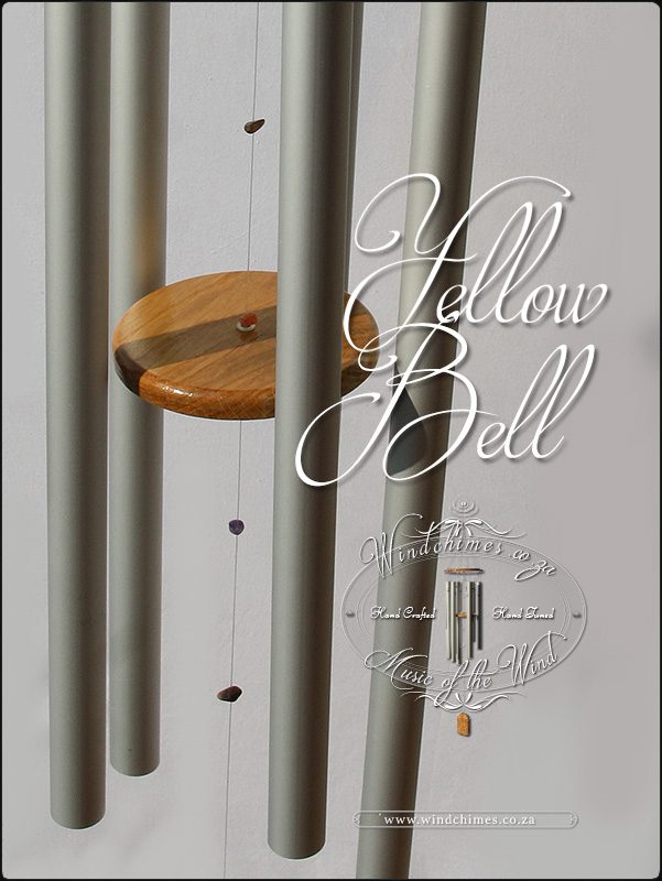 Yellow Bell wind chime - Windchimes.co.za