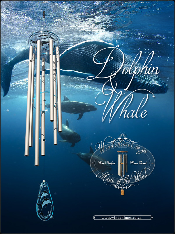 Dolphin and Whale wind chime - Windchimes.co.za